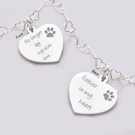 Silver Hearts Pet Loss Necklace